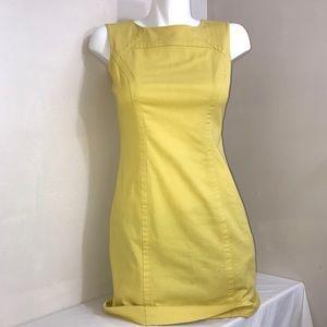 Jacob Dandelion Yellow Bodycon Sleeveless Dress